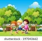 illustration of the kids... | Shutterstock . vector #197043662