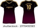 women sports jersey t shirt... | Shutterstock .eps vector #1970450585