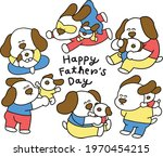 papa dog and puppy with... | Shutterstock .eps vector #1970454215