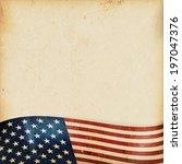 vintage style grunge background ... | Shutterstock .eps vector #197047376