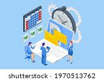 isometric time management... | Shutterstock .eps vector #1970513762
