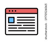 webpage  news  layout icon...   Shutterstock .eps vector #1970526065
