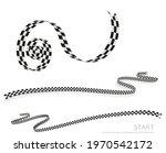 checkered racing flag  ribbon....   Shutterstock .eps vector #1970542172