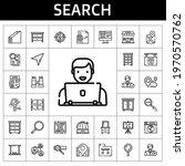 search icon set. line icon...