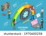 3d isometric flat conceptual... | Shutterstock . vector #1970600258