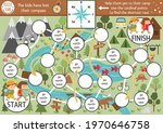 summer camp dice board game for ... | Shutterstock .eps vector #1970646758