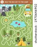 summer camp maze for children.... | Shutterstock .eps vector #1970646902