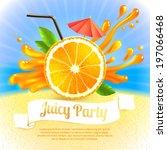 sliced orange and cocktail... | Shutterstock . vector #197066468