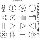audio icons set isolated on...