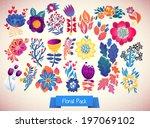 set of elegance flowers  ...   Shutterstock .eps vector #197069102