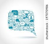 chat communication speech talk...