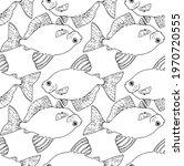 seamless pattern of sea fish... | Shutterstock .eps vector #1970720555