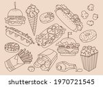 fast food hand drawn vintage... | Shutterstock .eps vector #1970721545