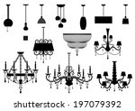 Sets Of Silhouette Chandelier...