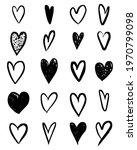 doodle hearts collection. hand... | Shutterstock .eps vector #1970799098