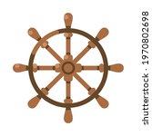 ancient wooden ships wheel... | Shutterstock .eps vector #1970802698