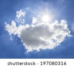 sun with clouds sky  | Shutterstock . vector #197080316
