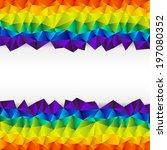 colorful spectrum rainbow...   Shutterstock .eps vector #197080352