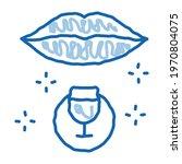 drinking wine sketch icon...   Shutterstock .eps vector #1970804075