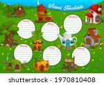 school timetable vector... | Shutterstock .eps vector #1970810408