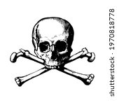 Human Skull With Crossbones....