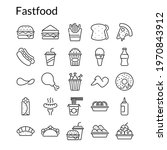 fast food icons set with... | Shutterstock .eps vector #1970843912