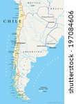 Постер, плакат: Chile Political Map with