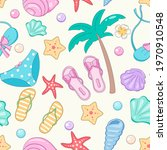 fun summer stuff seamless... | Shutterstock .eps vector #1970910548