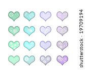 pastel hearts with flowers | Shutterstock . vector #19709194