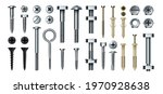 bolt and screw. realistic metal ... | Shutterstock .eps vector #1970928638
