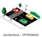 isometric automobile traffic.... | Shutterstock .eps vector #1970928662