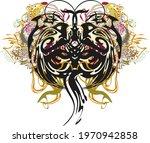 splattered unusual butterfly... | Shutterstock .eps vector #1970942858