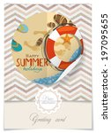 greeting card design  template. ... | Shutterstock .eps vector #197095655