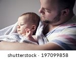 father with baby son  london ... | Shutterstock . vector #197099858