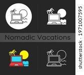 digital nomad dark theme icon.... | Shutterstock .eps vector #1971007595