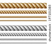 set of ropes  isolated on white | Shutterstock .eps vector #197101385