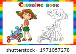 coloring page outline of... | Shutterstock .eps vector #1971057278