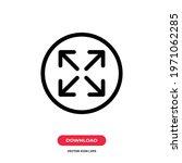 fullscreen icon vector....