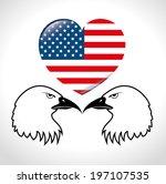usa design over gray background ... | Shutterstock .eps vector #197107535