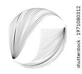 lines in unusual form . sphere... | Shutterstock .eps vector #1971080312