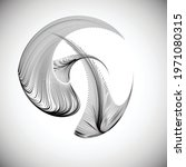 lines in unusual form . sphere... | Shutterstock .eps vector #1971080315