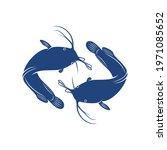 catfish design vector...