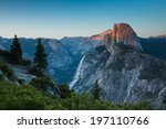 Yosemite Half Dome At Sunset