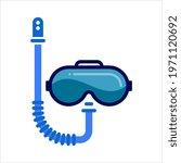 scuba diving mask icon  under... | Shutterstock .eps vector #1971120692