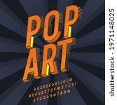 modern retro pop art font... | Shutterstock .eps vector #1971148025