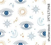 evil eye celestial seamless...   Shutterstock .eps vector #1971171968