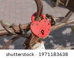 Weathered Red Closed Heart...