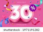 30 percent off. discount...   Shutterstock .eps vector #1971191282