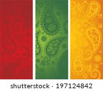 Set Of 3 Traditional Colorful...