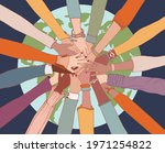 people diversity. arms and...   Shutterstock .eps vector #1971254822